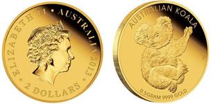 0.016 oz コアラ金貨