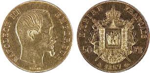 50フラン ナポレオン金貨