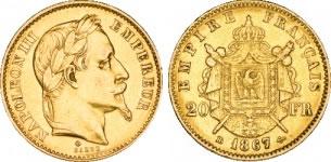 20フラン ナポレオン金貨