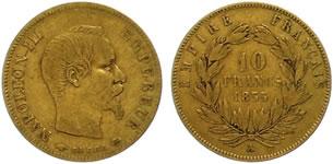 10フラン ナポレオン金貨