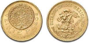 メキシコ 20ペソ金貨