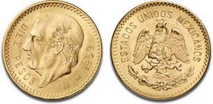 メキシコ 10ペソ金貨