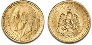 メキシコ 2.5ペソ金貨