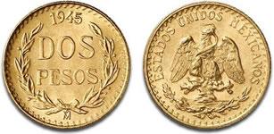 メキシコ 2ペソ金貨