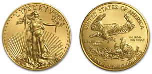 1 oz(オンス)アメリカンイーグル金貨