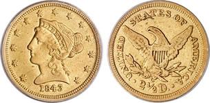 2.5ドル リバティ金貨