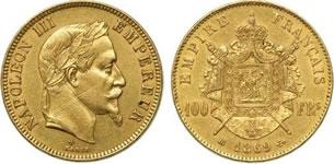 100フラン ナポレオン金貨