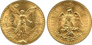 メキシコ 50ペソ金貨