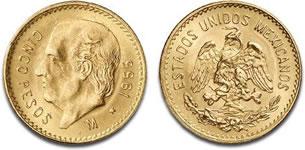 メキシコ 5ペソ金貨