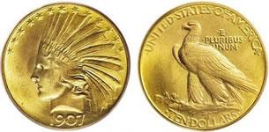 10ドル インディアン金貨