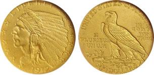 2.5ドル インディアン金貨